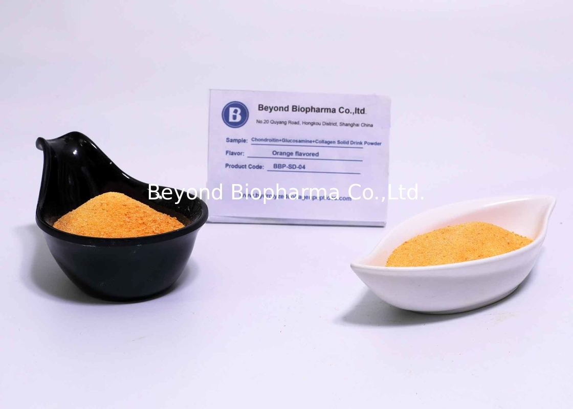 Dietary Supplement Contract Manufacturing For Orange Flavored Collagen Solid Drinks Powder